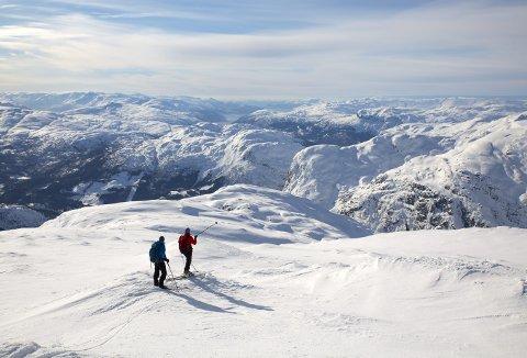 Det var slik i høyfjellet tidligere i vinter, men de siste dagene har været for alvor snudd, så man skal passe nøye på når man nå skal ferdes i fjellet.                                                Foto: ANDRE MARTON PEDERSEN