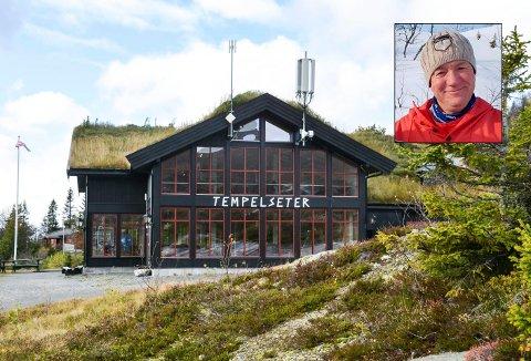 DAGLIG LEDER: Øyvind Rideng (innfelt) søker etter ny daglig leder på Tempelseter Fjellstue.