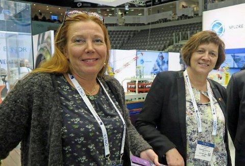 Leder for Nordkapp Arbeiderparti, Kari Lene Olsen og ordfører i Nordkapp kommune, Kristina Hansen.