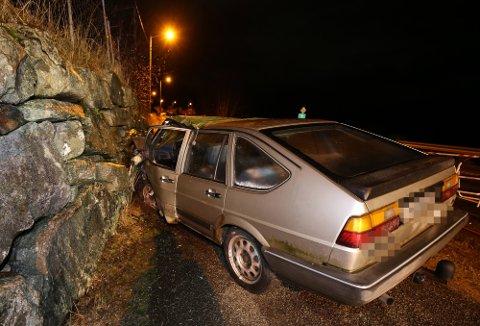 Fotgjengarane vart påkøyrde av denne bilen i minst 69 km/t. De to kvinnene døydde av skadane dei fekk.