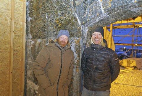 LEDERE: Johan «Lossi» Lindblom og Patrik Stenström skal drive hotellet. De melder om stor pågang lenge før det er ferdig bygget. Alle foto: Odd-Georg H. Benjaminsen.