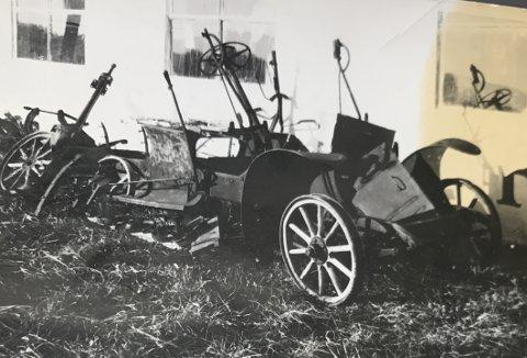 OPPRINNELSEN: Andreas Schytte-Larssens bil før restaureringen. Bildet er tatt i 1955, nesten 30 år før dagens eier fikk kjøpt den.