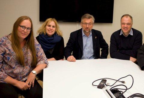 OPPGITTE: Lise Selnes, Kamilla Thue, Sjur Strand og Knut Hvithammer vil snarest møte den nye hedmarksbenken. FOTO: PER HÅKON PETTERSEN