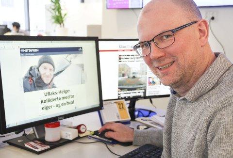 DET HAR LØSNET: Vi er på jobb fra 05.30 til 23.00 for å dekke hele nyhetsdøgnet. Vi utvikler oss hele tiden og skal være der ting skjer, sier Thor Sørum-Johansen, redaktør i Glåmdalen.