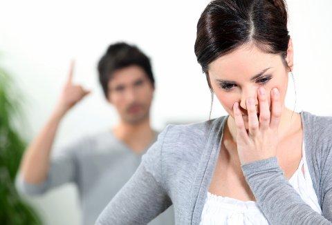 GRENSEN?: Mange av parene som oppsøker Familievernkontoret er usikre på hvor grensen går for hva som regnes som vold i parforholdet. Illustrasjonsfoto: Colourbox