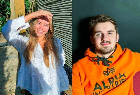 ANNERLEDES TID: Stine Oppi Bunes og Ruben Kjernsli er klare for å feire avslutningen på videregående skole. Hvordan feiring blir, vet ingen ennå.