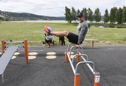 – GODT TILBUD: Tore Martin Søbak Gundersen bruker Lillehammer aktivitetspark hver uke.