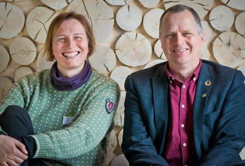 GRØNNE LISTETOPPEER: Karina Ødegård og Jon Lurås er toppkandidater for Miljøpartiet de Grønn i henholdsvis Oppland og Hedmark valgdistrikt