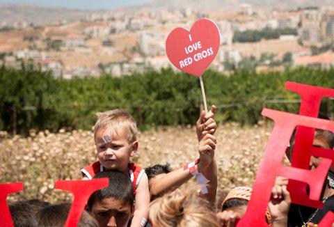 Camp settlement in Zahle, Lebanon. (Photo: Mari A. Mørtvedt / Norwegian Red Cross).