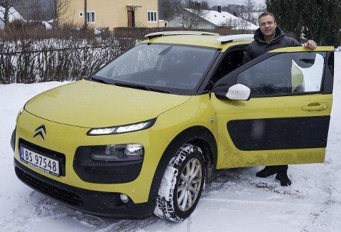 BILEN MIN: Morten Lafton fra Jevnaker har hatt sin Cactus i to år og angrer ikke på at han kvittet seg med en diger Nissan Patrol til fordel for denne.
