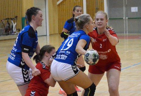 BESTE KAMP: Rikke Marie Einlyng lagde sju mål og spilte sin beste kamp i Lunner-drakta.