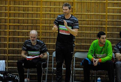 FORNØYD: Jan Thomas Lauritzen kunne klappe for det ene poenget mot Nærbø.