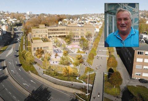 MOT: Per Egil Evensen er mot storskolen på Os. – Det er åpenbart at det er for trangt, sier han.