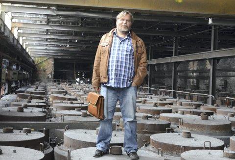 Festivalgründer: Lars Ove Seljestad  er klar for sin andre Jernrosa litteraturfestival . Politikk og samfunn, «oss og dei» er tematikk og raud tråd. Arkivfoto: Mette Bleken