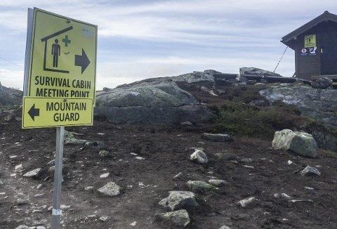 Fjellvakt: Fjellvakta held til ved Floren, om lag halvvegs på stien til Trolltunga.