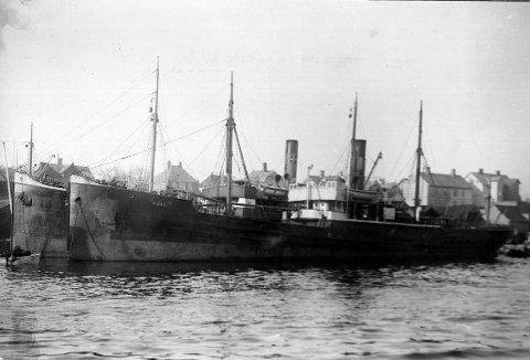 D/S «BOKN»: Bakkevig-skipet gikk i samme konvoi som «Kongshaug» 9. juli 1942. Bare en liten halvtime etter at sistnevnte ble senket, ble også «Bokn» torpedert.