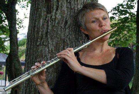 Fløytist Maiken Mathisen Schau fra Sandnessjøen. Foto: Jill Mari Erichsen
