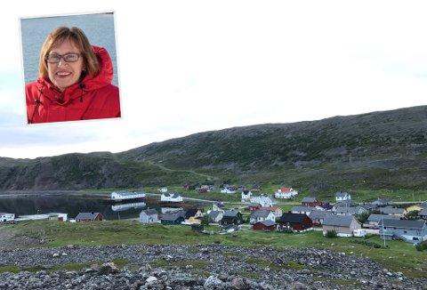 UTEN TELEFON OG INTERNETT: Store deler av Kongsfjord har vært uten telefon og internett siden onsdag ettermiddag. Åse Winsents ved Kongsfjord gjestehus, opplever konsekvensene av dette.