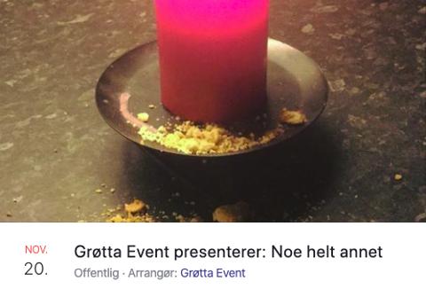 TEASER: Dette arrangementet er det mange som har sett på Facebook. Arrangør Stig Tore Grøtta holder kortene tett til brystet, men sier det ligger et hint i bildet på hva slags humor publikum kan forvente seg.