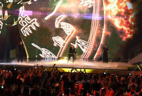 FORRETNINGSFOLK: Medlemmene i gruppen Keiino har startet aksjeselskap. Her er de under Eurovision-finalen i Israel.