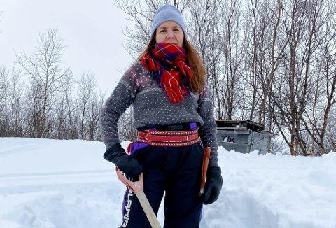 PÅ HYTTA: Politimester Ellen Katrine Hætta skal påsken 2020 være på hytta til sin svigermor i Sør-Varanger kommune. – Her blir det snømåking, sier hun.