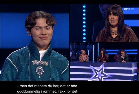 GUDDOMMELIG: Det var bare godord fra dommerne da Vegard Bjørsmo hadde fremført Elle under premieren på Stjernekamp.