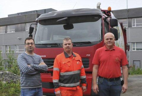 Ny renovatør: F.v. overingeniør Adam Suliman i Kragerø kommune, Kristian Westin og avdelingsleder hos RenoNorden, Bjørn Bjellerås.