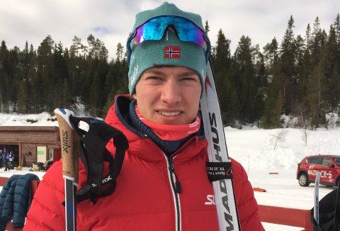 Sannidalsløperen Olav MArkus Tveit Aakre tok en sterk fjerdeplass i norgescup-sprinten lørdag. (Foto: Privat)