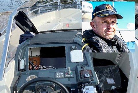 MÅ HA MER PENGER: Politioverbetjent Terje Sandik mener økningen i innbrudd og tyverier i Kragerø, slik som dette tyveriet av en kartplotter fra en båt, kan skyldes høyere priser på narkotika på grunn av narkotørke under korona-tiden. Foto: Politiet/Elisabeth Løsnæs/Mats Andersson