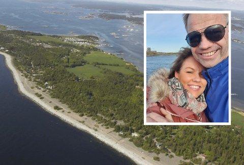 VIL BYGGE: Det er ved en mindre eiendom like overfor Jomfruland Camping at ekteparet Urd og Jan Kristoffersen ønsker å bygge en bolig.