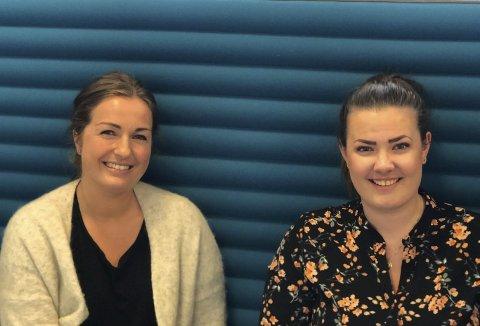 Ny jobb: Anita Kvamme t.v. tek over jobben til Ida Maage Elstad. Elstad skal byrja som kunderådgjevar i Sparebanken Vest til hausten.