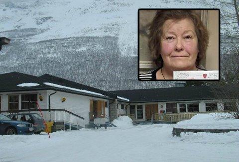 FORBANNET: Torill Heggeblom er ansatt på Åsen omsorgssenter i Storfjord. Nylig fikk hun gave for 35 år i tjeneste, men da hun så beløpet ble hun forbannet.