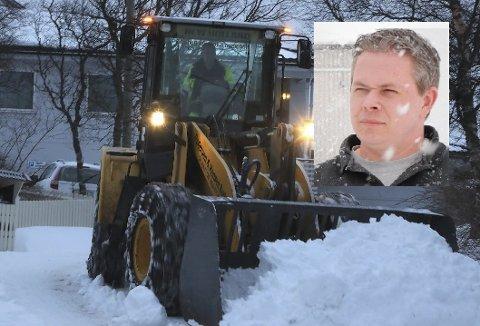 Fagansvarlig veg Odd Eskil Andersen i Vestvågøy kommune legger vekt på likebehandling i brøytespørsmål.