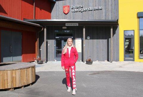 BYREMO VIDEREGÅENDE SKOLE: Camilla Usland Vasland er russepresident ved Byremo videregående skole.