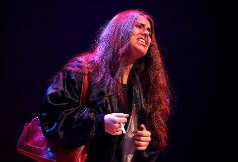 Sandra Holch-Roos Larsen i rollen som Carmen i årets Fame-forestilling.