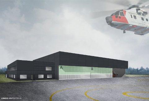 NY BASE: I 2020 skal den nye basen på Rygge flyplass stå klar til bruk. Backe Østfold AS er valgt som totalentreprenør.
