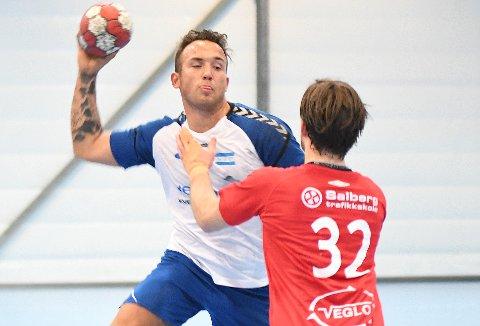 VANT IGJEN: Chris Andre Beilegaard Inglingstad var god med sine åtte mål da Nordstrand vant 38-21.