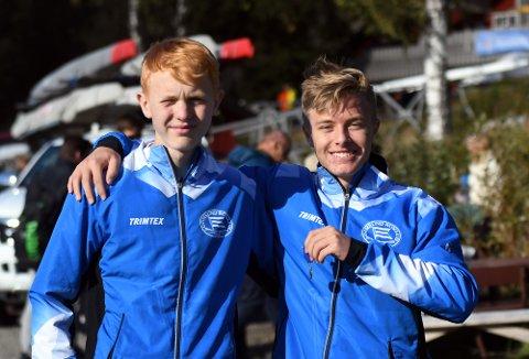 GULLGUTTER: Truls og Adrian hentet med seg førsteplassen forrige helg under NM (uoffisielt grunnet alder).