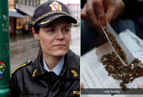 Anita  Hermandsen, leder i U18-gruppen i Troms politidistrikt. Foto: Yngve Olsen Saebbe