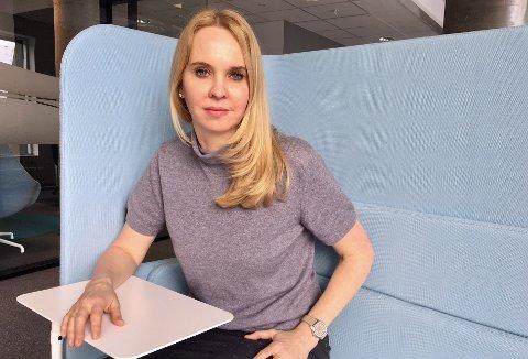 PÅ PLASS: Janne Log (49) begynte nyjobben ved Norges Sjømatråd i april i fjor. Et drøyt år senere er hun ferdig i stillingen.