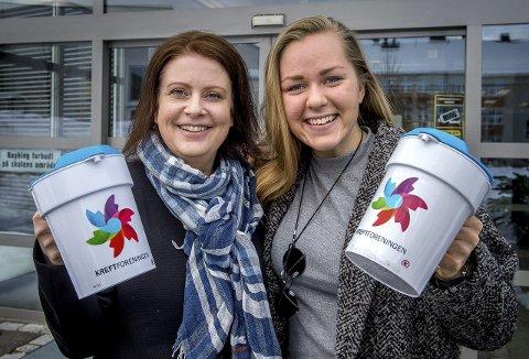 Klare for aksjon:  Marianne Aashaug (t.v.) og Martine Rønning Bjørnås har fått mange til å «gå for livet» søndag. Foto: Brynjar Eidstuen