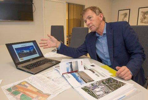 LANG PROSESS: – Vi har allerede skaffet 70 prosent leietakermasse, sier Reinert Seljeskog, daglig leder i Gjøvik Utvikling AS, som ivrer etter å komme i gang med komplett prosjektering og bygging av det nye næringsbygget i Parkgata 6.