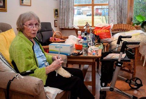 REISEKLAR: Marie Helene Venger hadde tirsdag gjort seg reiseklar for å flytte fra Kapp bo- og servicesenter til Labo på Lena.
