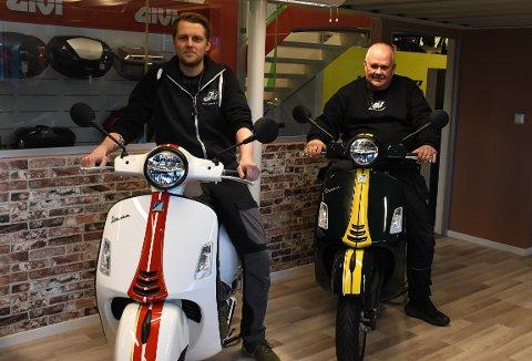 MC-GLEDE: Eirik Weseth og Tor Nygård har hatt et godt år i Gjøvik Motor Service.