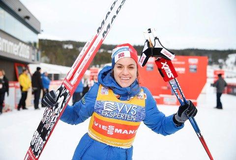GOD INNTEKT: Heidi Weng var den best betalte langrennsløperen i landet i 2017.