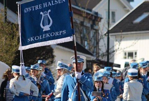 2018: Musikkorpsenes år er noe Østre Halsen skolekorps også markerer.