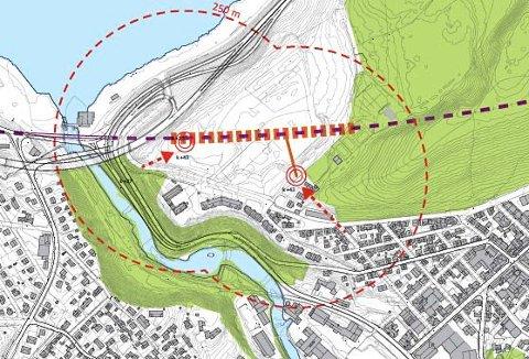 FORSLAG: Jernbanestasjon ved Bergeløkka, slik det var foreslått for noen år siden.