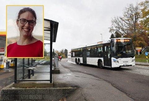 VIL FØLGE LOVEN: - Elever på videregående skal få gratis skoleskyss når de har rett til det, sier Maren Njøs Kurdøl (Rødt), som sitter i Hovedutvalg for samferdsel i Vestfold og Telemark fylkeskommune.