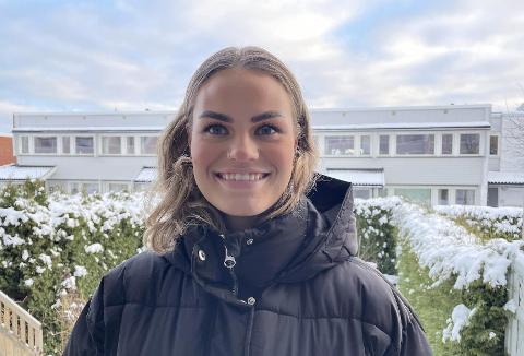 SVÆRT FÅ ANDRE: Marit Rykken Knudsen (21) studerer systemdesign på USN sammen med svært få andre kviner.