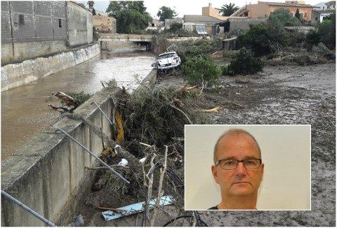 DRAMATIKK: Hans Erik Skari fra Elverum er på den populære ferieøya Mallorca hvor åtte mennesker har mistet livet så langt.